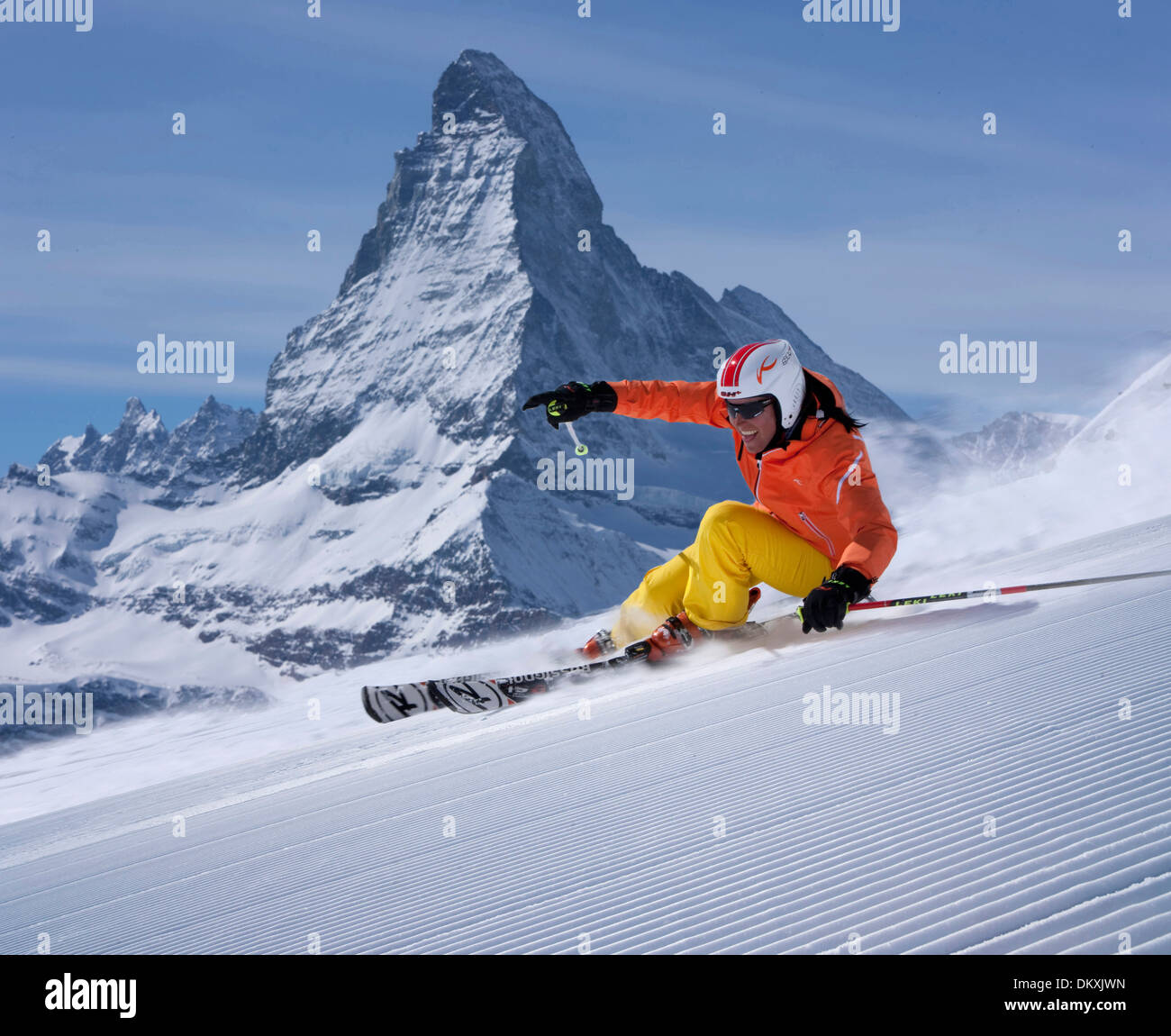 Switzerland europe mountain mountains woman women ski