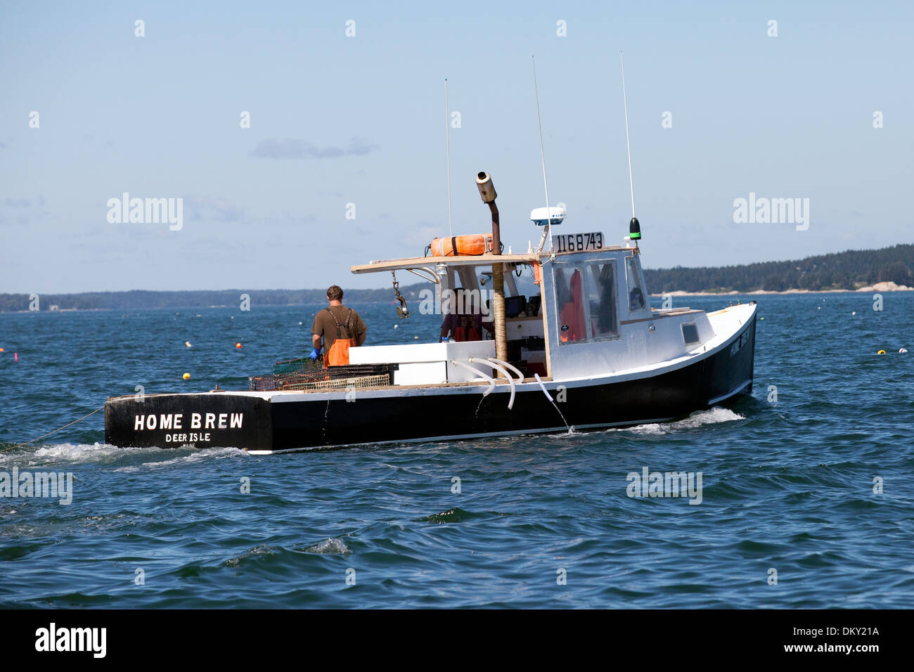 Boats yachts maine boats lobster boats picnic boats sailing - Working Lobster Boat Maine Stock Image