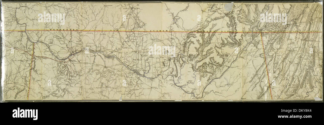 Map Of That Portion Of The Tennessee River In Northern Alabama - Map of northern alabama