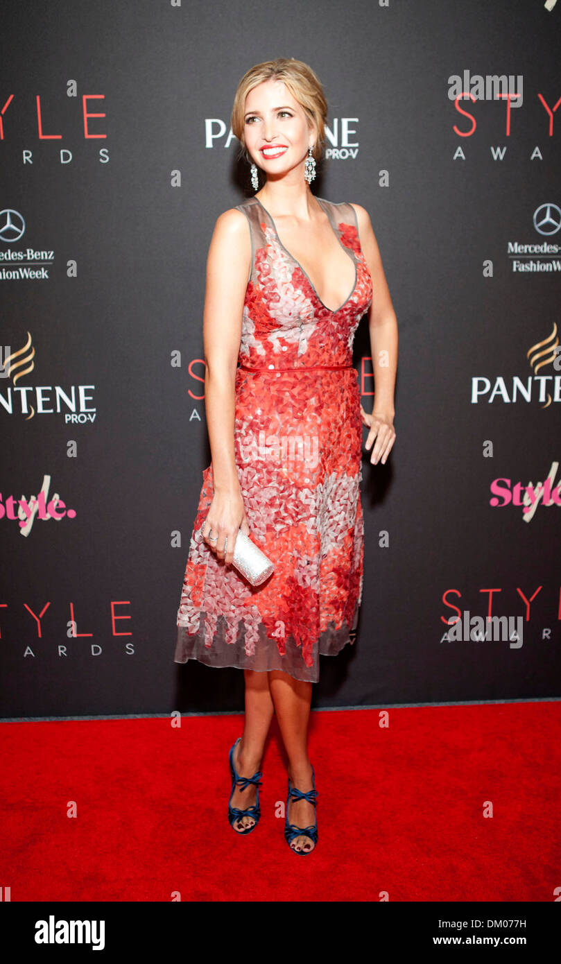 Ivanka Trump 2012 Style Awards Held During Mercedes Benz Fashion Week Stock Photo Royalty Free