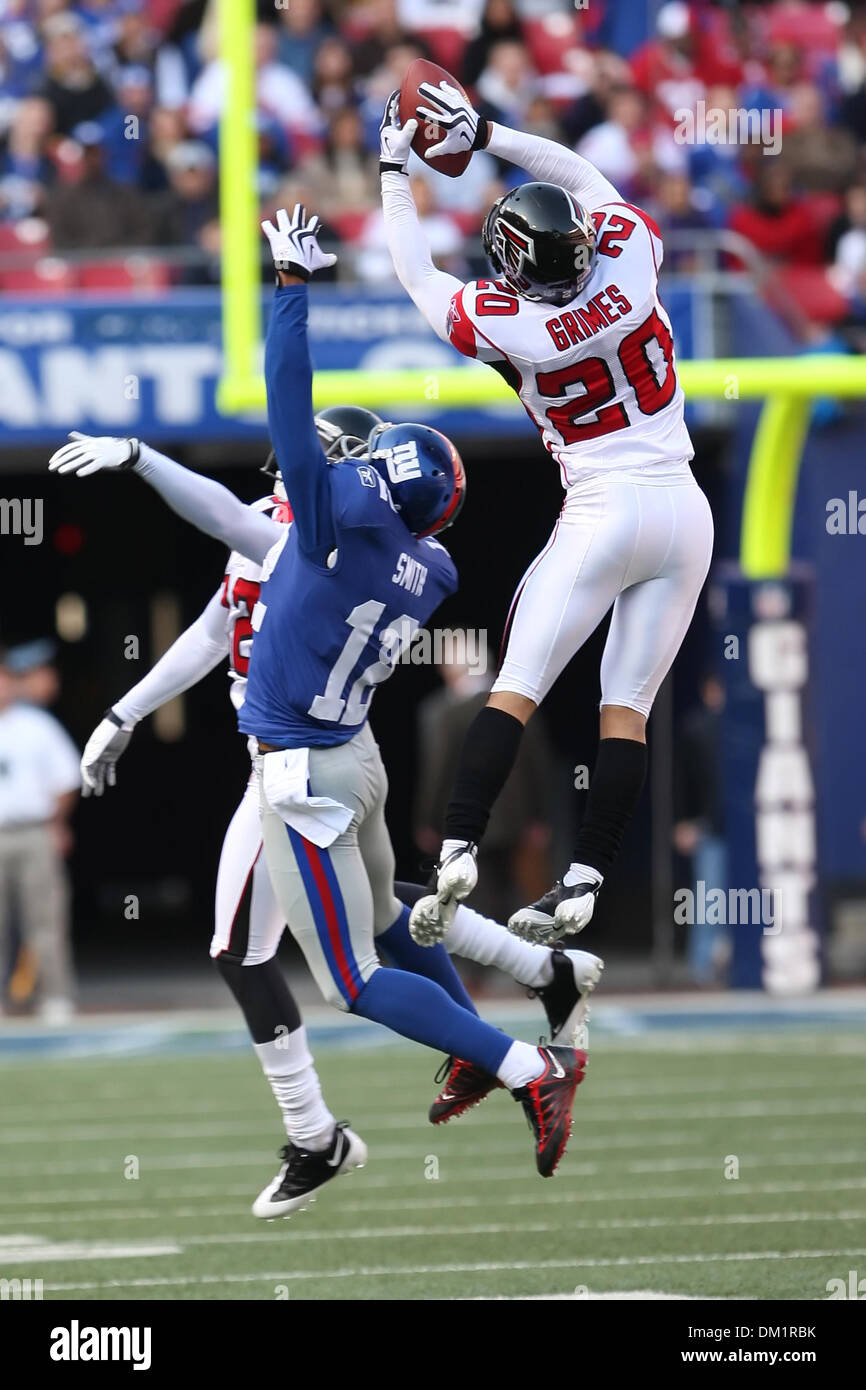 Falcons 20 Corner Back Brent Grimes up high for the ball in the