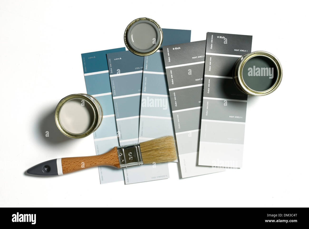 Stock Photo   Paint Chart Samples Cut Out On White Background