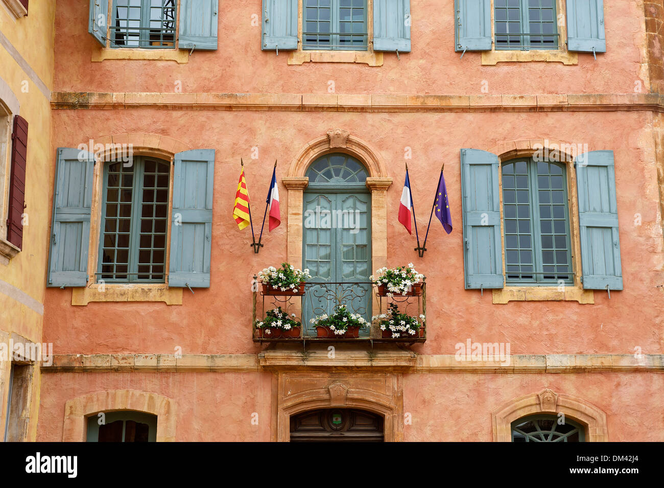 france europe provence south of france house facade building facade stock photo royalty free. Black Bedroom Furniture Sets. Home Design Ideas