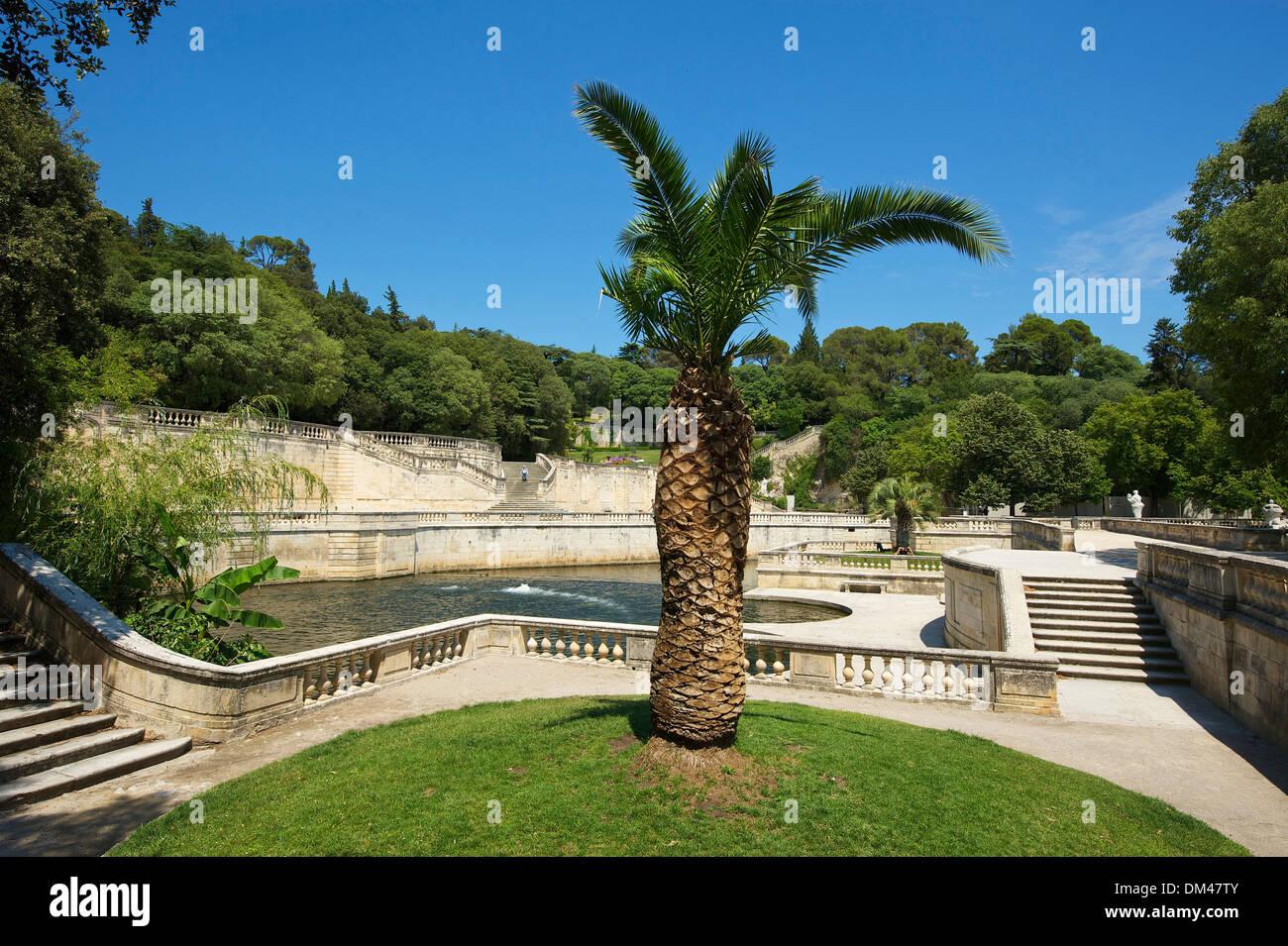 France europe provence south of france jardin de la fontaine nimes stock photo royalty free - Petit jardin proven nimes ...