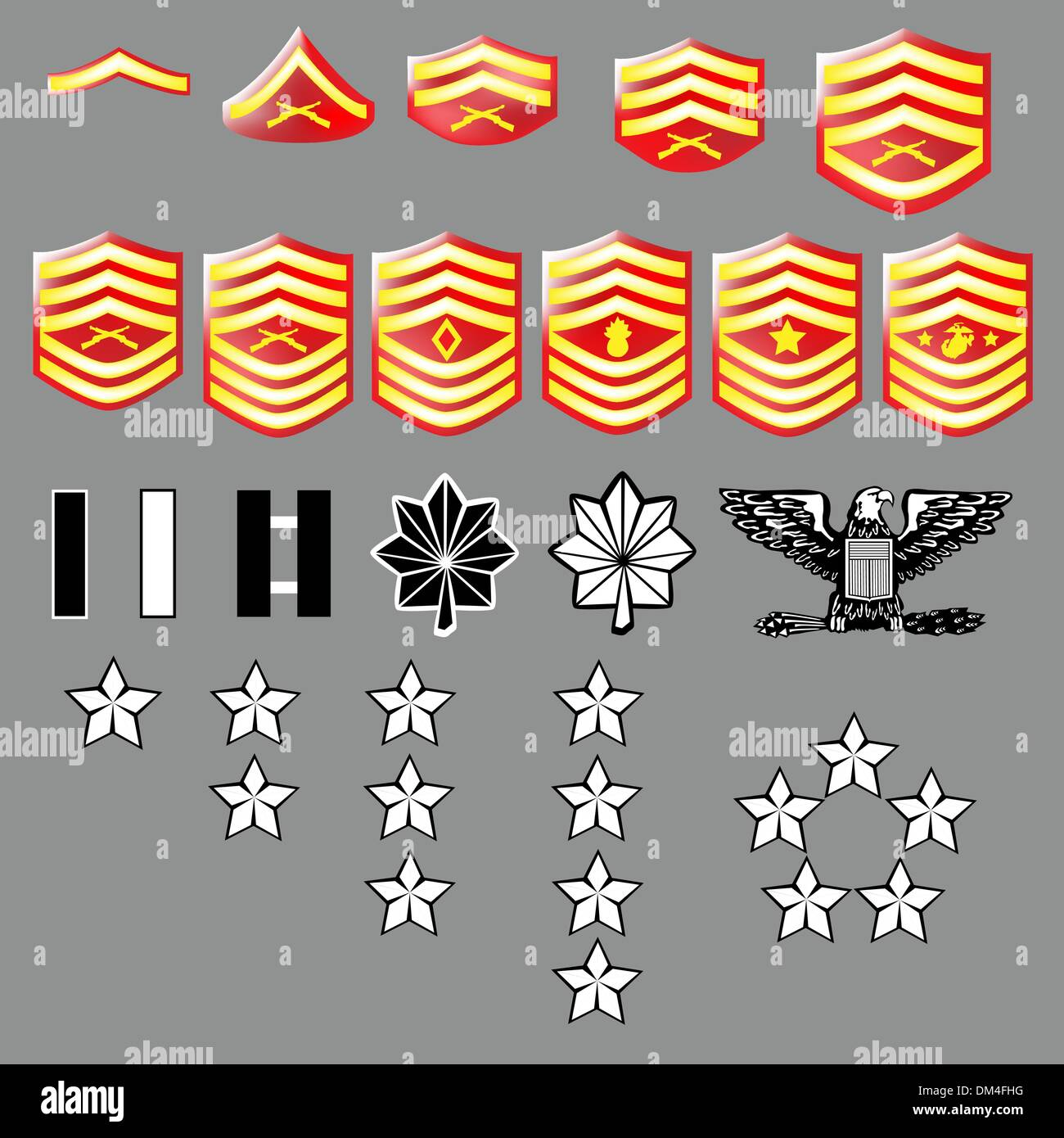 Us marine corps rank insignia textured stock vector art us marine corps rank insignia textured buycottarizona Image collections