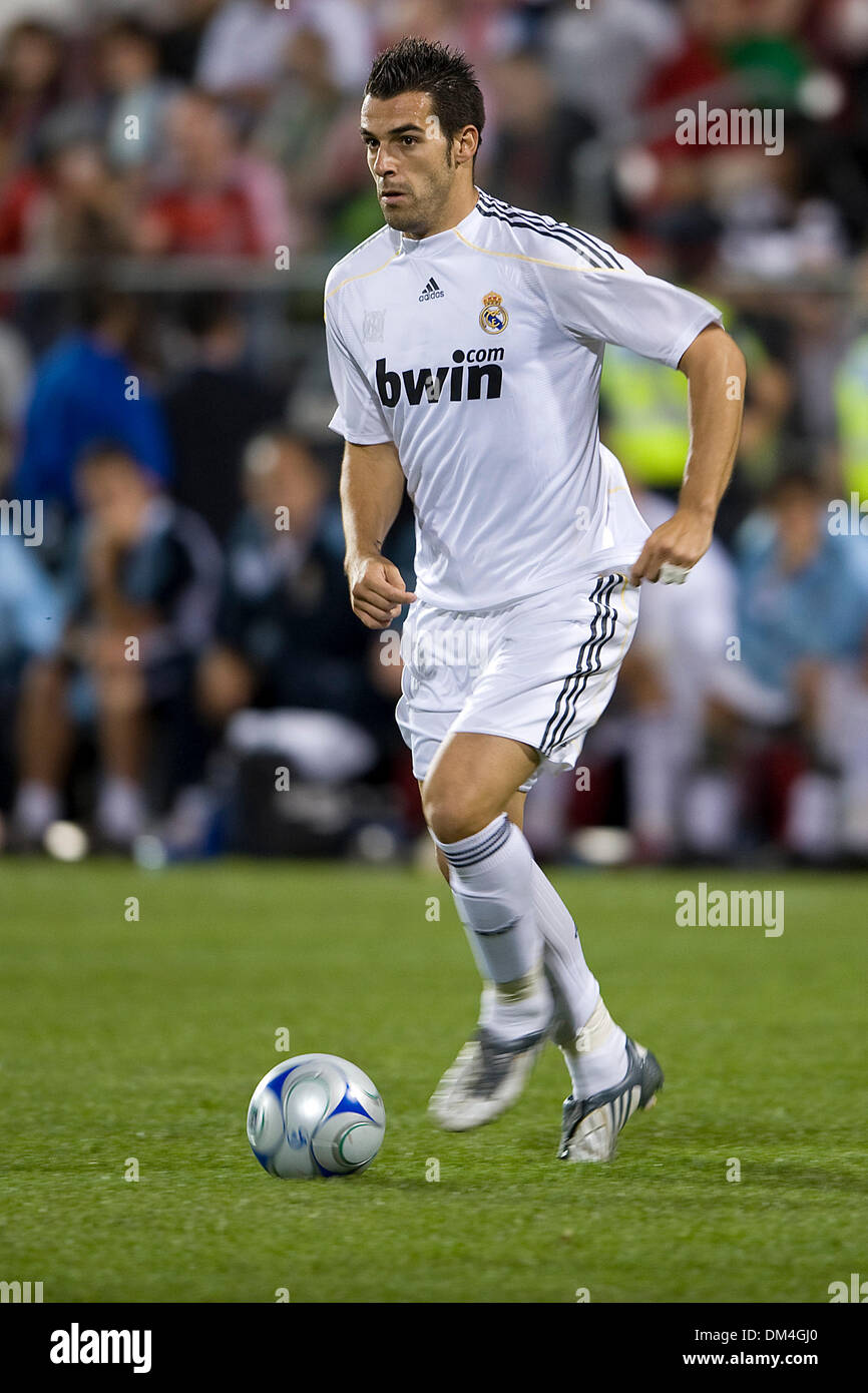 Real Madrid forward Alvaro Negredo 17 in action during a FIFA