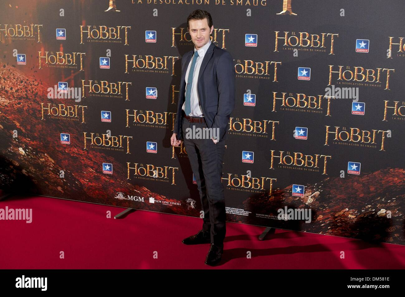 Madrid Spain 11th Dec 2013 Richard Armitage Attends The Hobbit Stock Photo Royalty Free