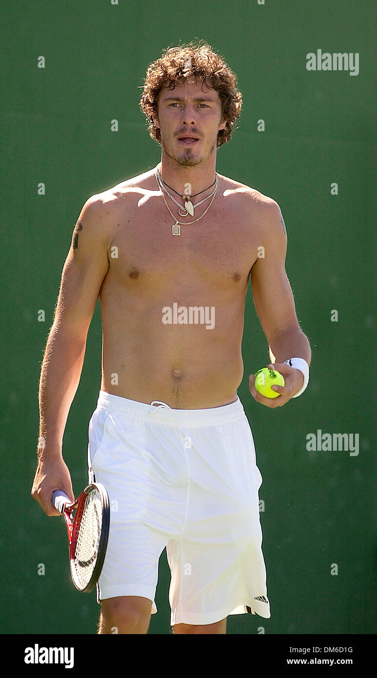 Mar 10 2005 Indian Wells CA USA APT tennis pro MARAT SAFIN on