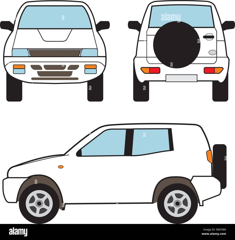 Car Small Suv Vector Shapes Stock Vector Art Illustration