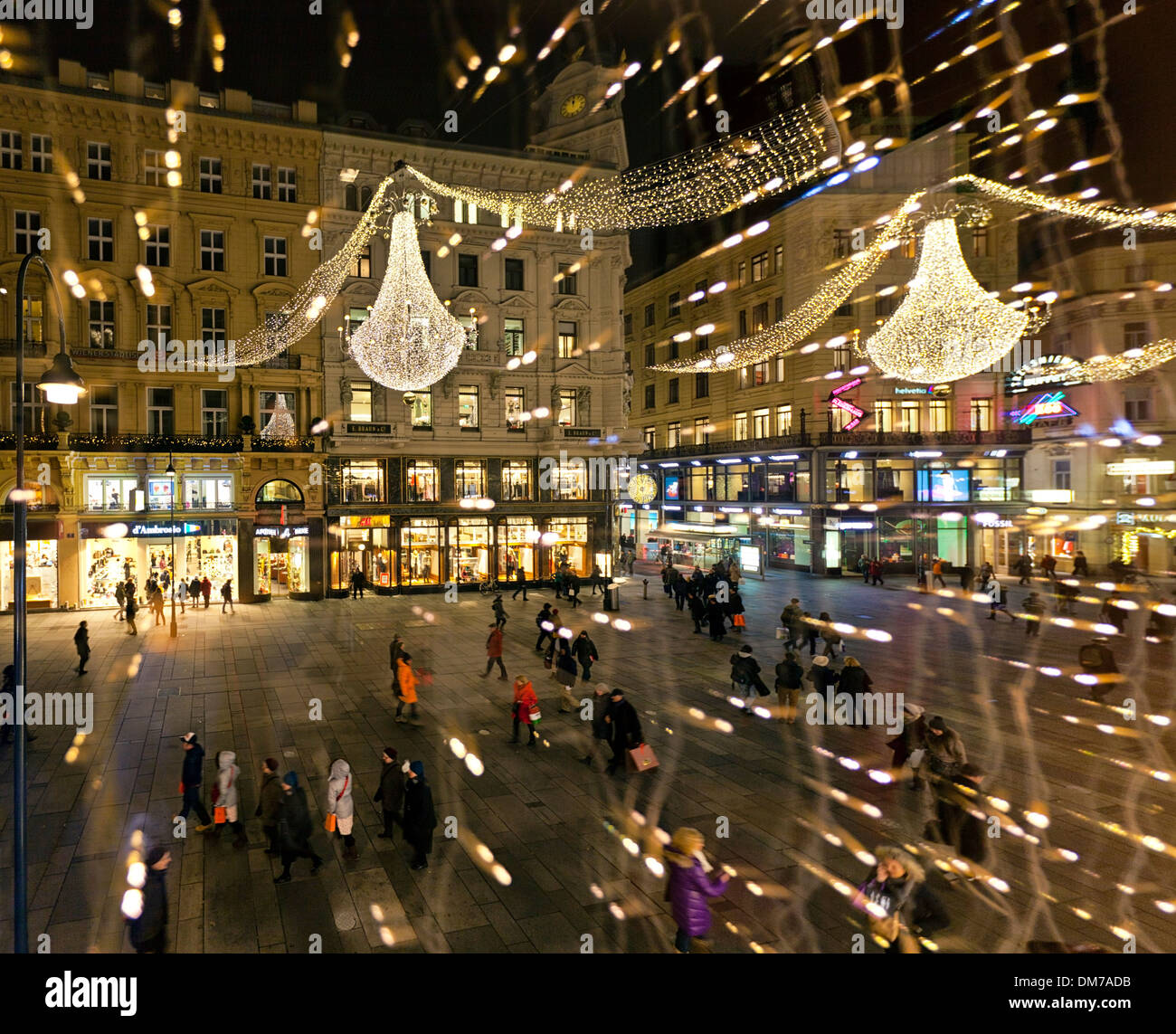 The Graben of Vienna in the city Center during the ...