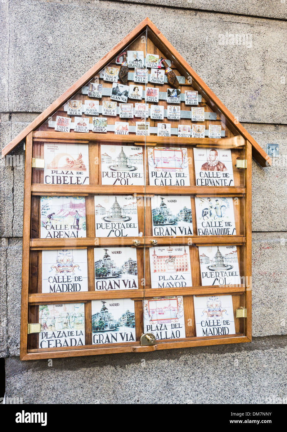 Spain madrid ceramic tiles stock photos spain madrid ceramic display of traditional ceramic tile street names as tourist souvenirs madrid spain stock dailygadgetfo Gallery
