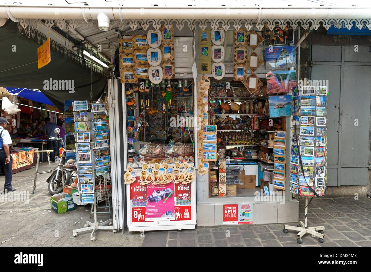 Souvenir shop port louis market mauritius stock photo royalty free image 64103544 alamy - Mauritius market port louis ...