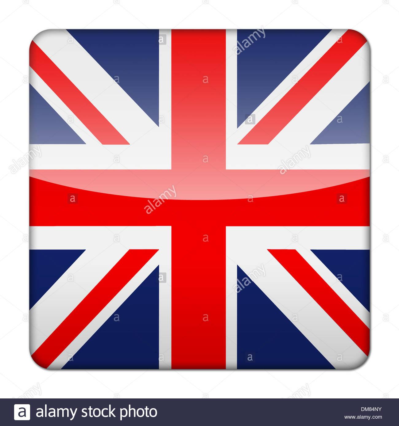 Glossy Logo Icon App Flag Of Great Britain Union Jack England - Flag of england