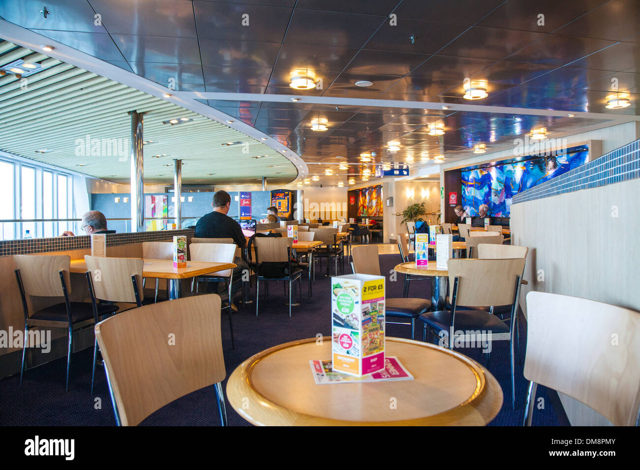 Cafe Bar On Board A Cross Channel Ferry From Dover To Calais Stock Photo Royalty Free Image