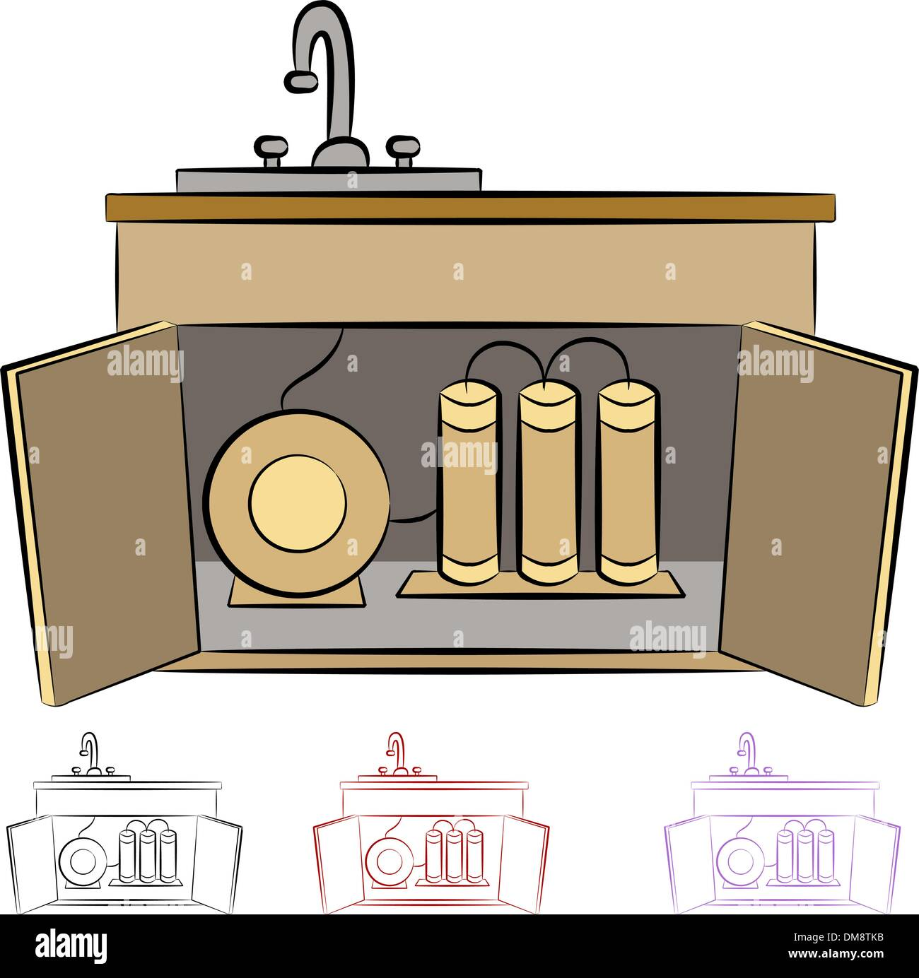 Kitchen Sink Water Filtration System Stock Vector Art ...