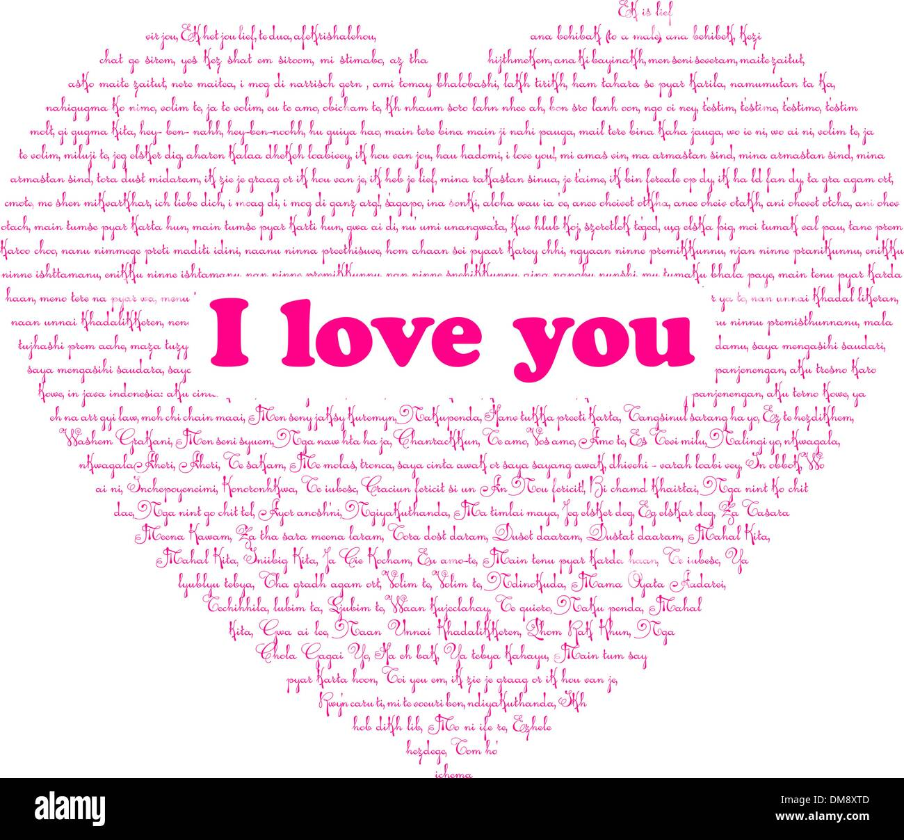how to write i love you in different languages