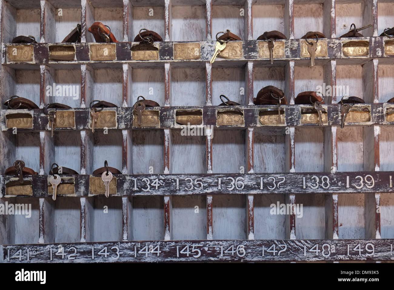 An old hotel reception room key box in zanzibar island a for Design hotel zanzibar
