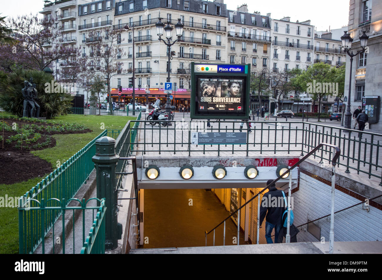 entrance to the metro station on place d 39 italie 13th. Black Bedroom Furniture Sets. Home Design Ideas