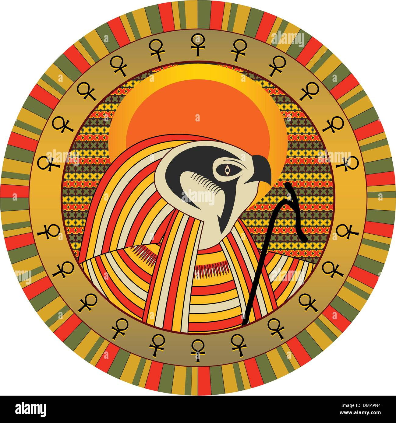 Egyptian god of sun ra stock vector art illustration vector egyptian god of sun ra buycottarizona