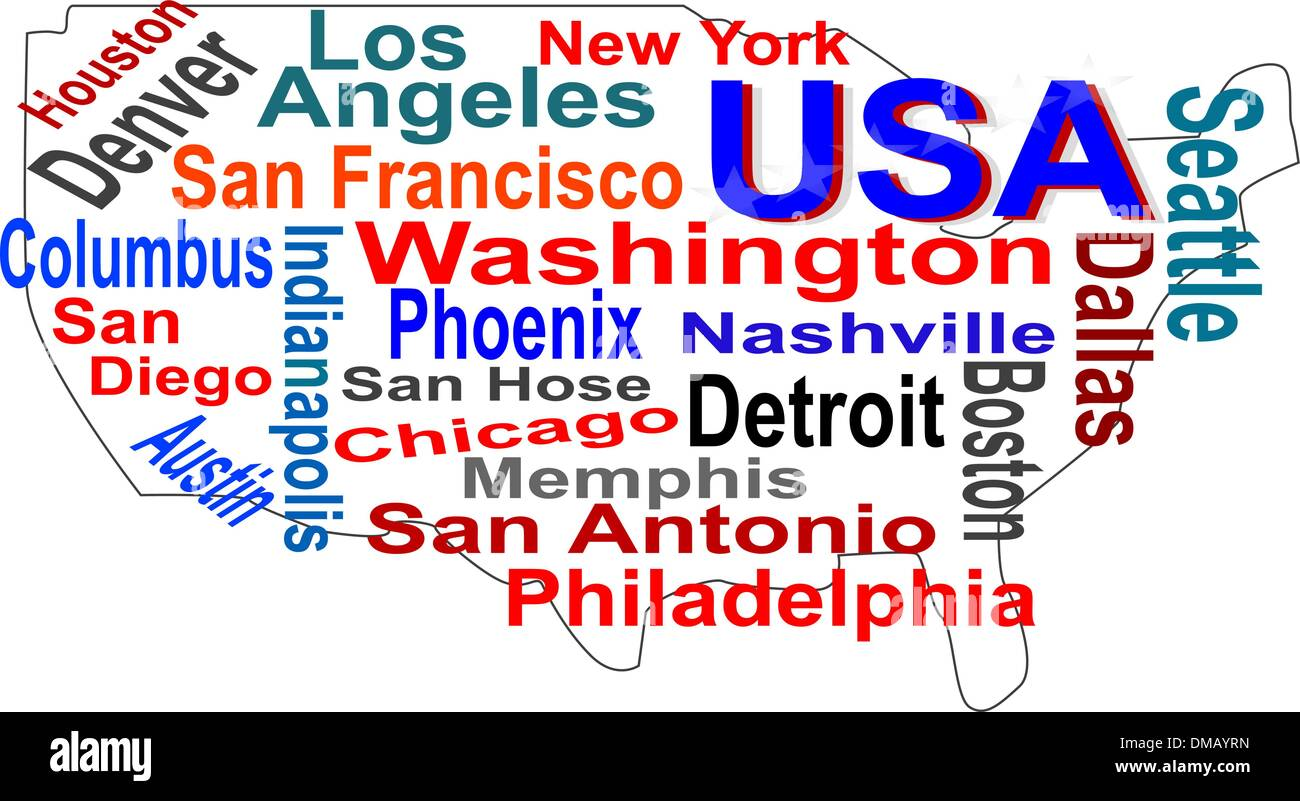 Printable Us Map With Cities Globalinterco - Memphis tn on us map