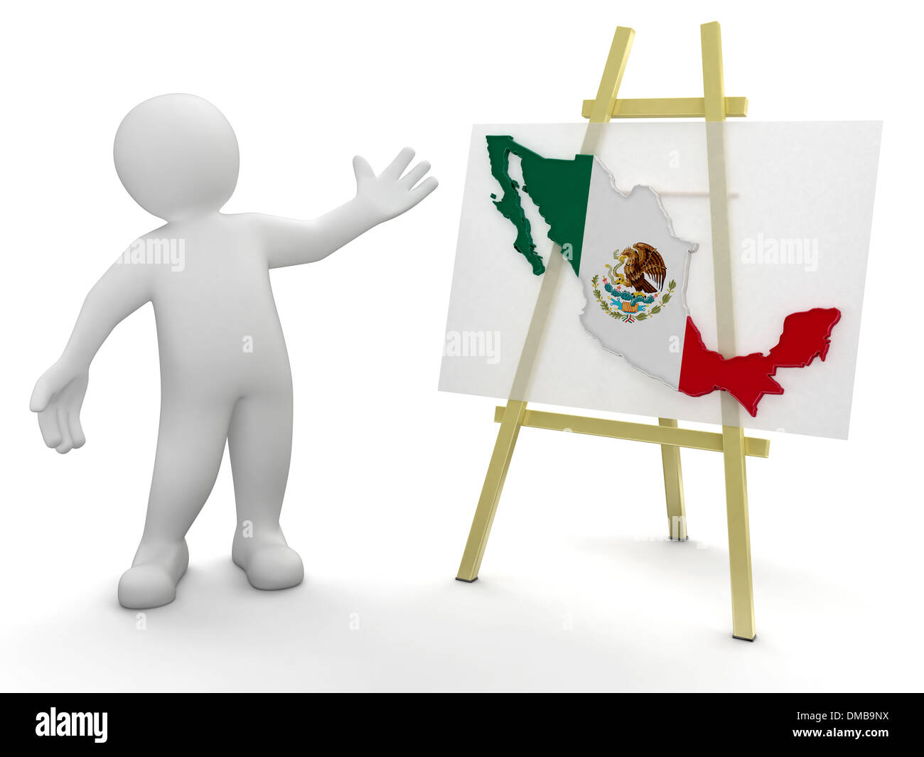 Man And Mexican Map clipping Path Included Photo Royalty – Mexicanmap