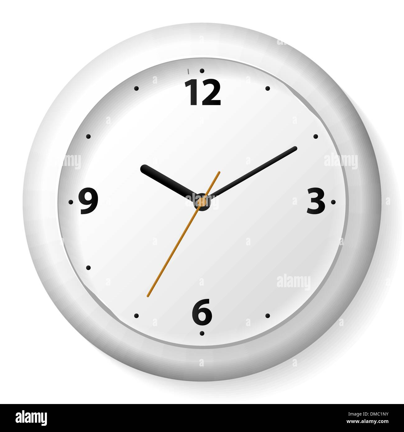 Vector clock on the wall stock vector art illustration vector vector clock on the wall amipublicfo Gallery