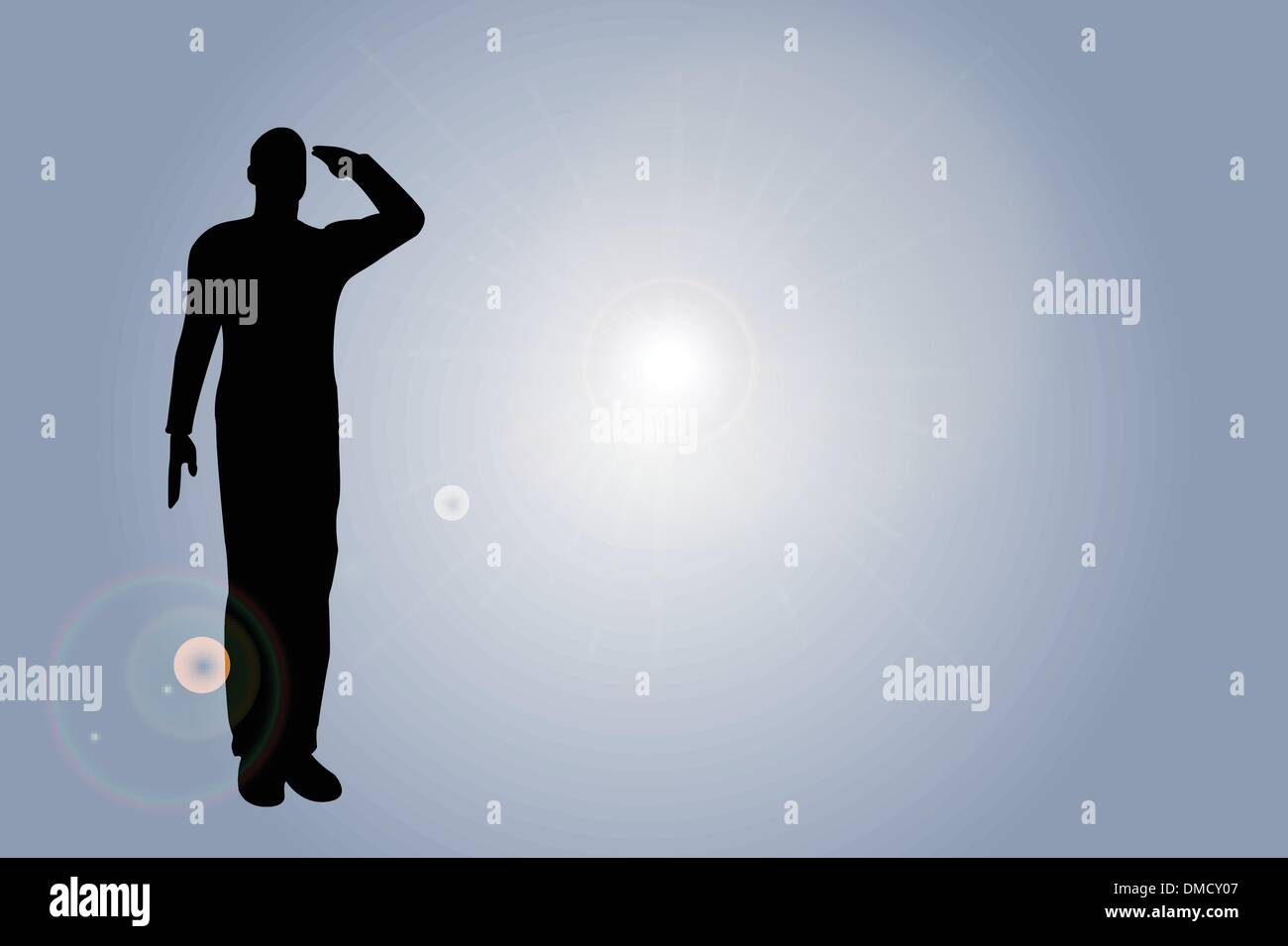 silhouette of an army soldier saluting