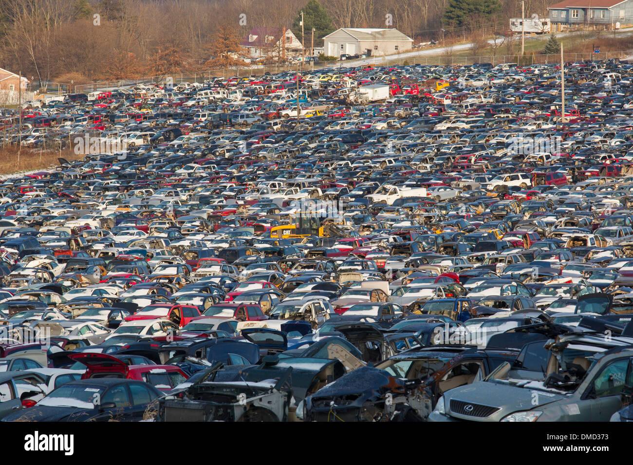 Stoystown, Pennsylvania - The 50-acre auto junkyard belonging to ...