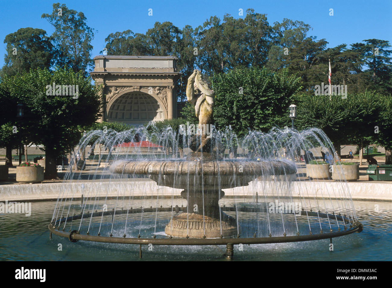 Fountain And Stage At The Music Concourse Golden Gate
