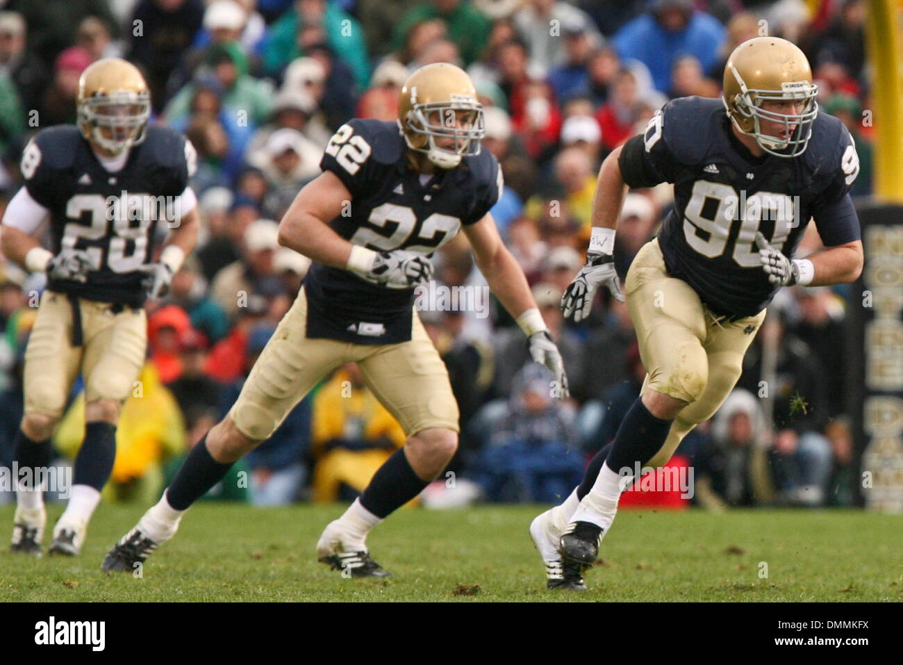 24 October 2009 Notre Dame s John Ryan 90 and Harrison Smith