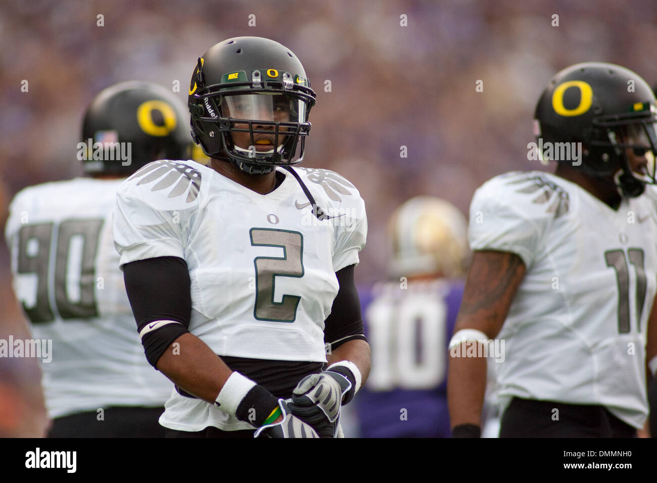 24 October 2009 Oregon safety T J Ward 2 in the game between