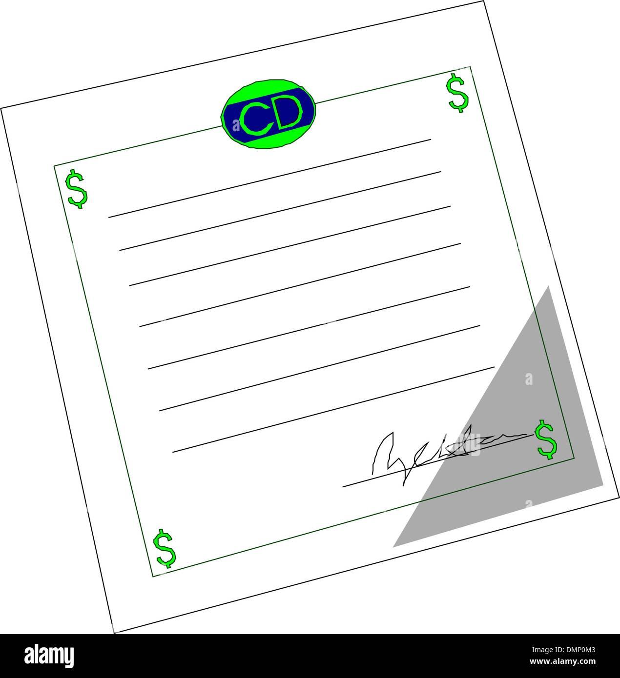 Certificate of deposit stock vector art illustration vector certificate of deposit 1betcityfo Images