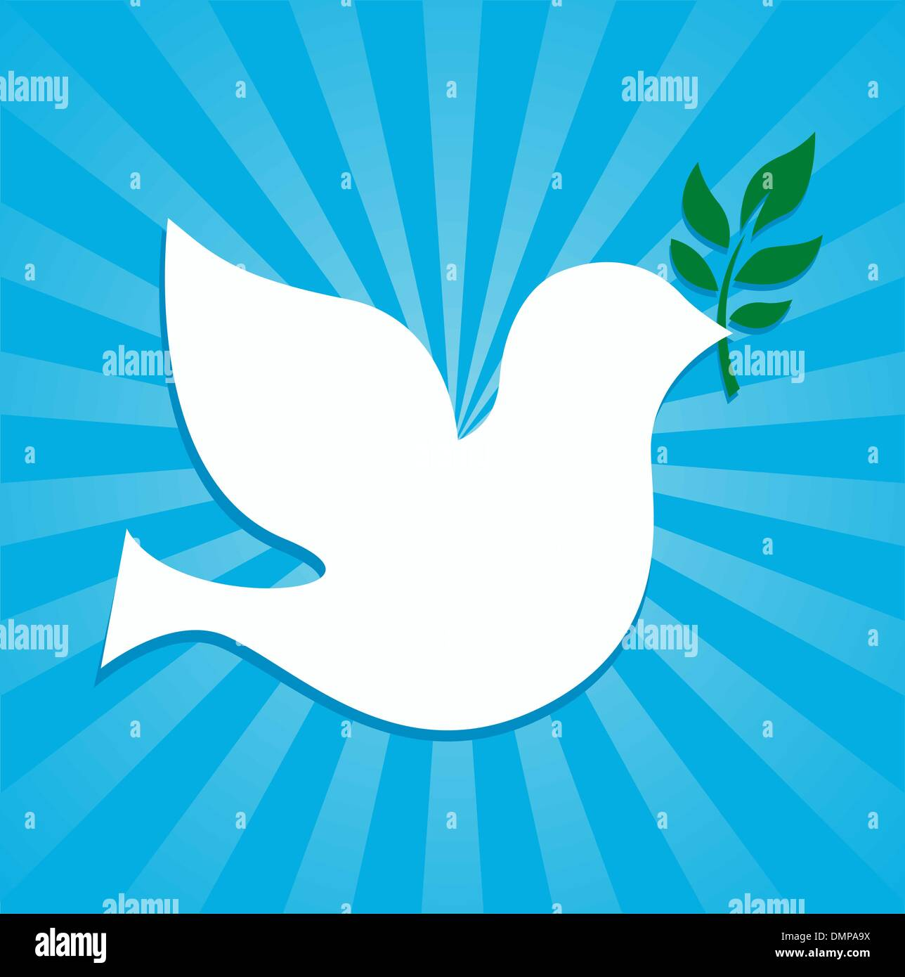dove peace symbol holding an olive branch