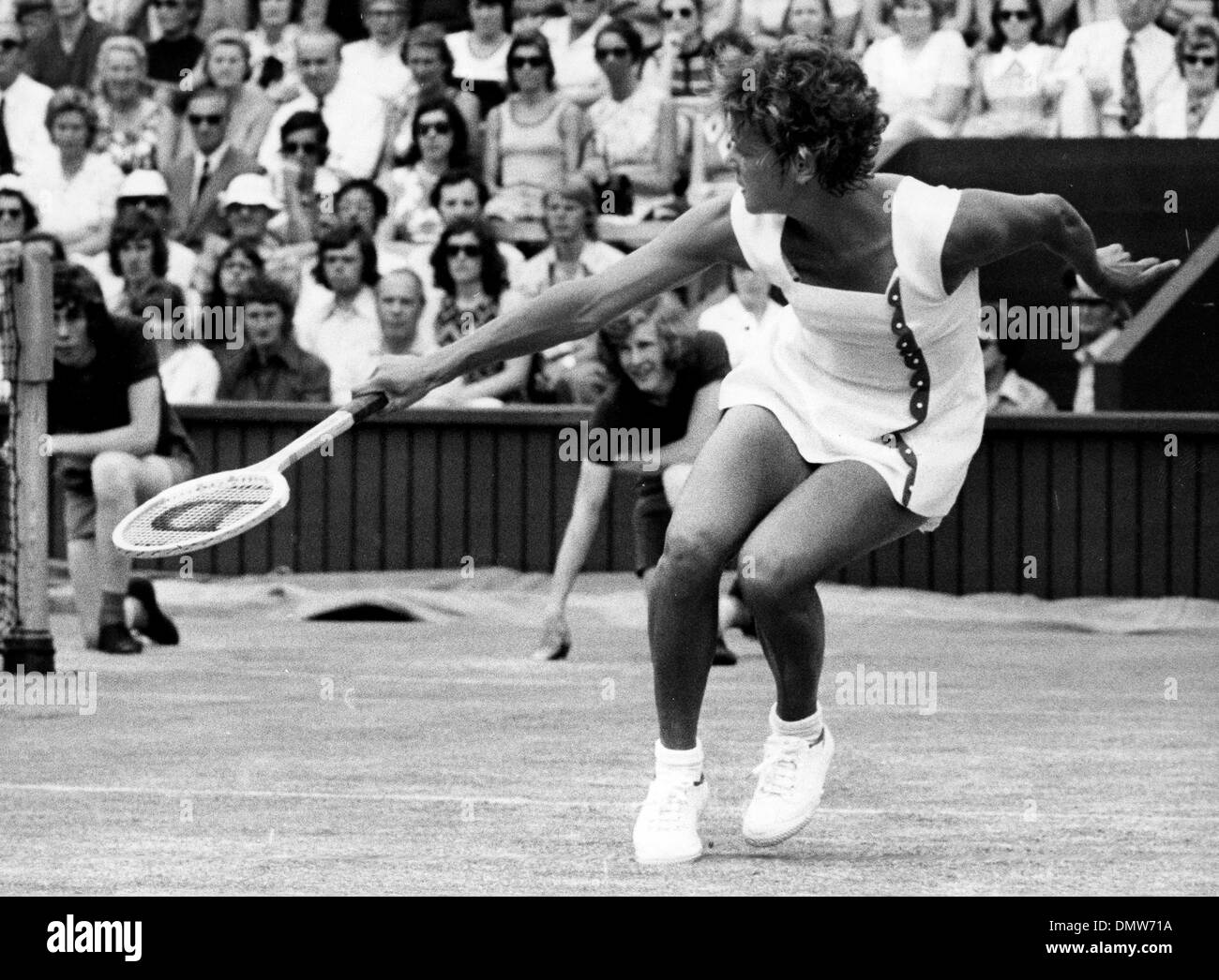 July 2 1973 London England U K EVONNE GOOLAGONG CAWLEY