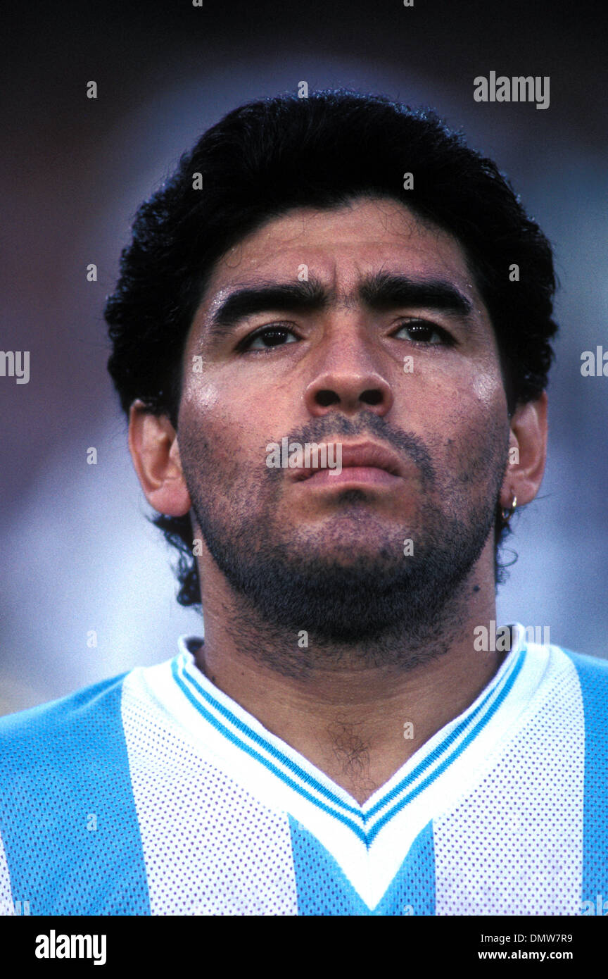Jul 03 1990 Rome ITALY Argentinian soccer star DIEGO