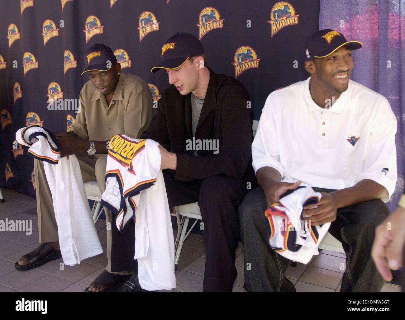 Jun 28 2001 Oakland CA USA Draft picks Jason Richardson and