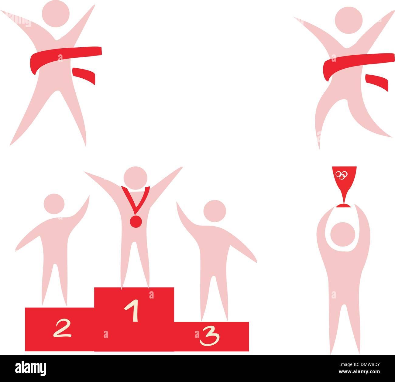 Sport competition victory icons set of symbols stock vector art sport competition victory icons set of symbols biocorpaavc