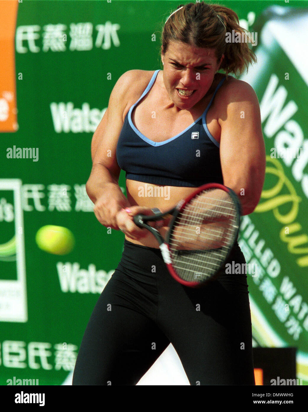 Oct 05 2000 Hong Kong HONG KONG Tennis star JENNIFER