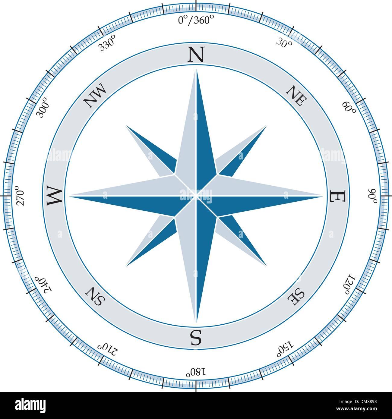 Compass vector illustration stock vector art illustration compass vector illustration pooptronica