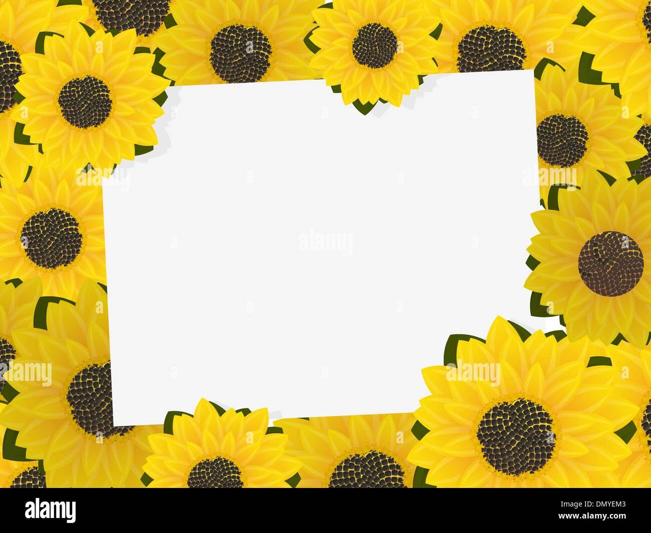 Sunflower frame Stock Vector Art & Illustration, Vector Image ...