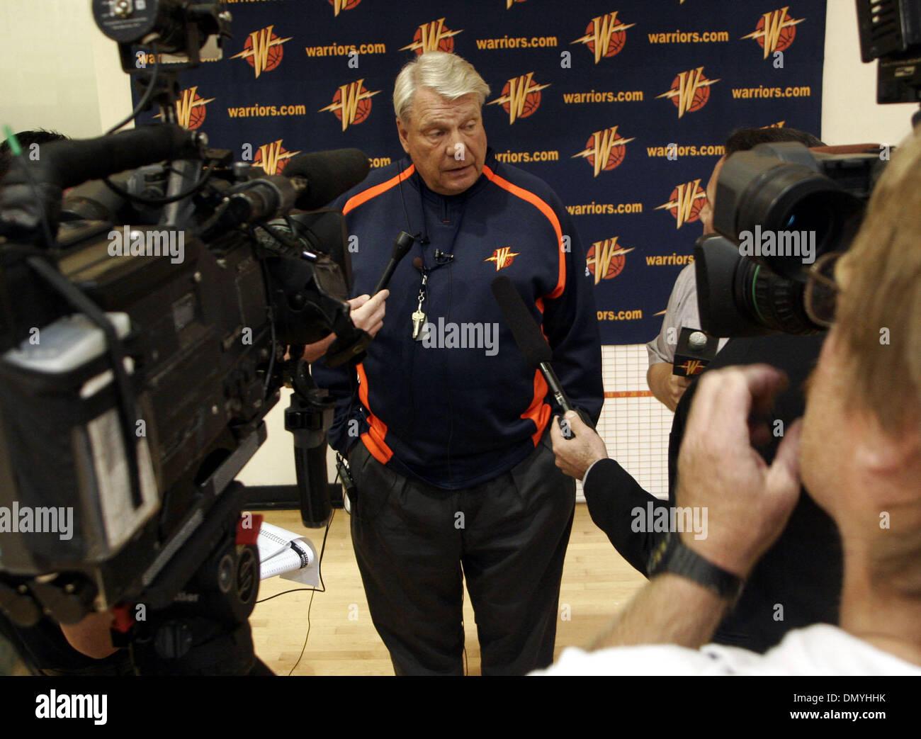 Sep 28 2006 Oakland CA USA Warrior coach DON NELSON during an