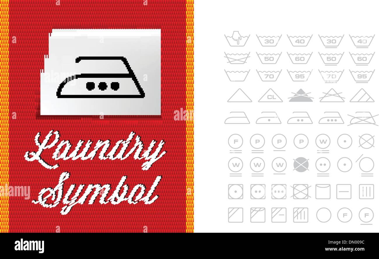 Washing symbols on clothing label stock vector art illustration washing symbols on clothing label biocorpaavc Images