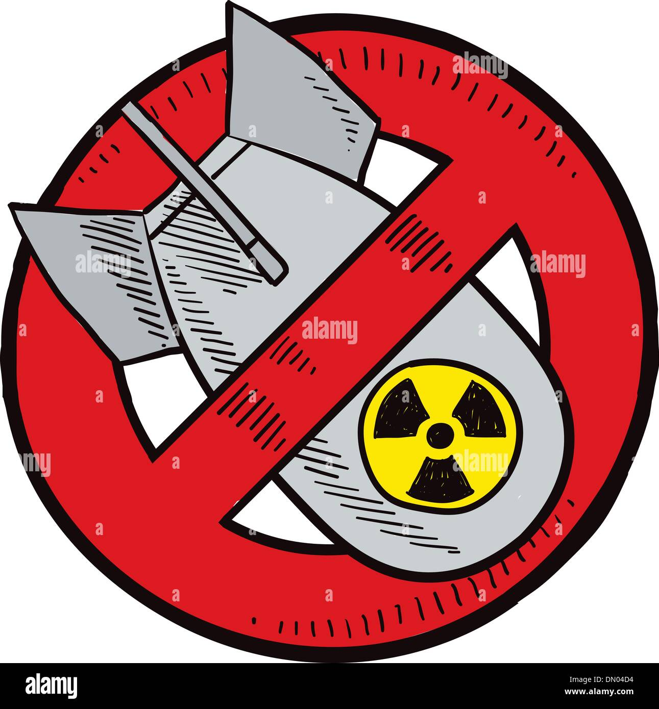 no nuclear weapons sketch stock vector art   illustration Atomic Bomb Art Atomic Bomb Explosion Cartoon