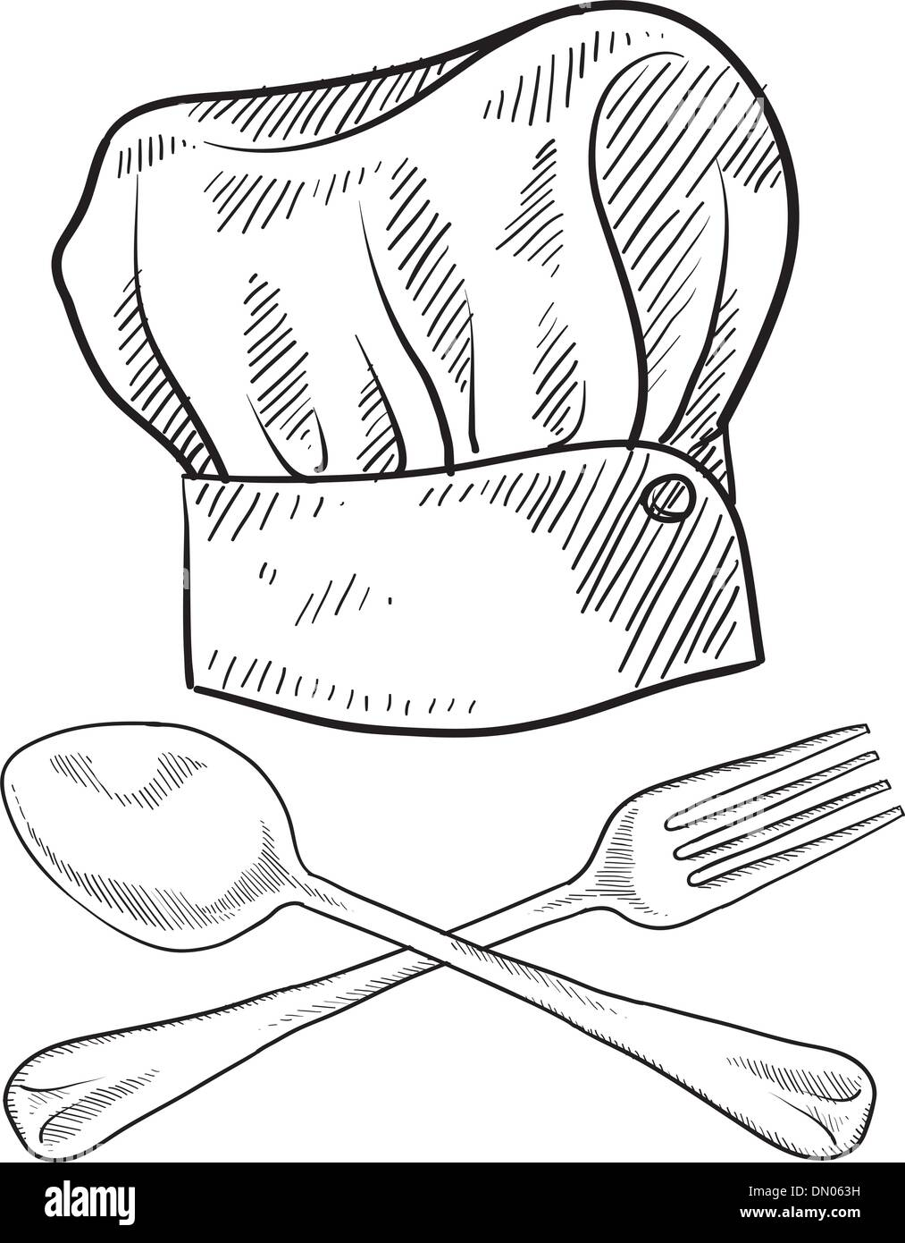 chef hat sketch stock vector art amp illustration vector