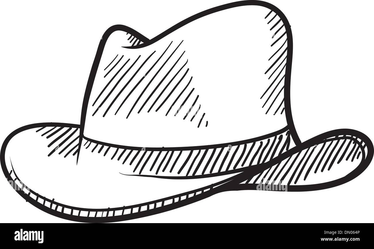 Cowboy hat sketch Stock Vector Art & Illustration, Vector ...