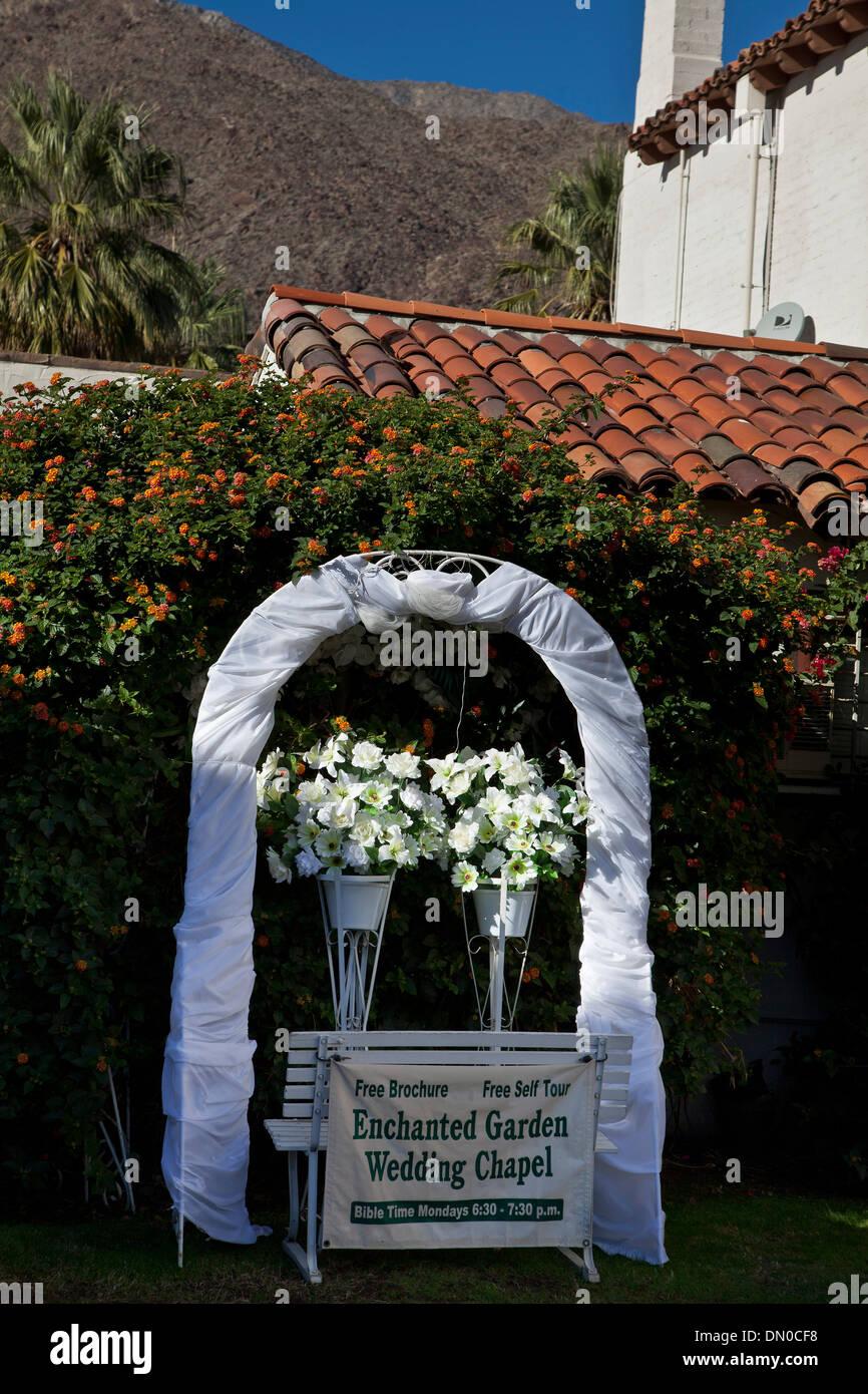 The Enchanted Gardens Boutique Wedding Chapel Palm Springs CA USA