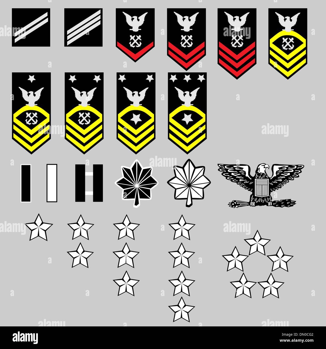 Us navy rank insignia stock vector art illustration vector us navy rank insignia biocorpaavc