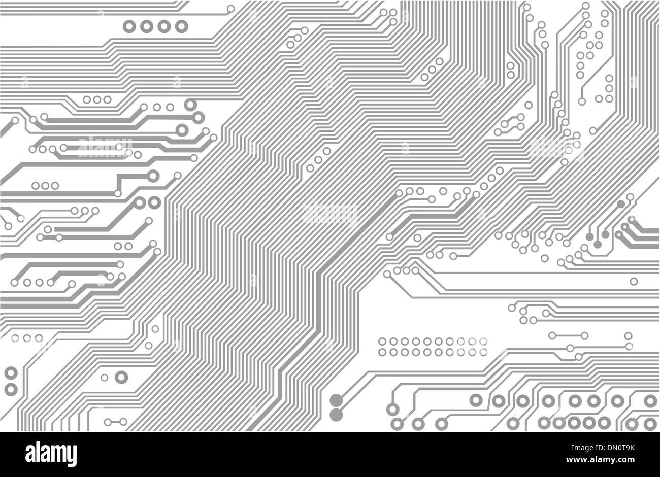 Motherboard Circuit Illustration: Vector Stock Vector Art