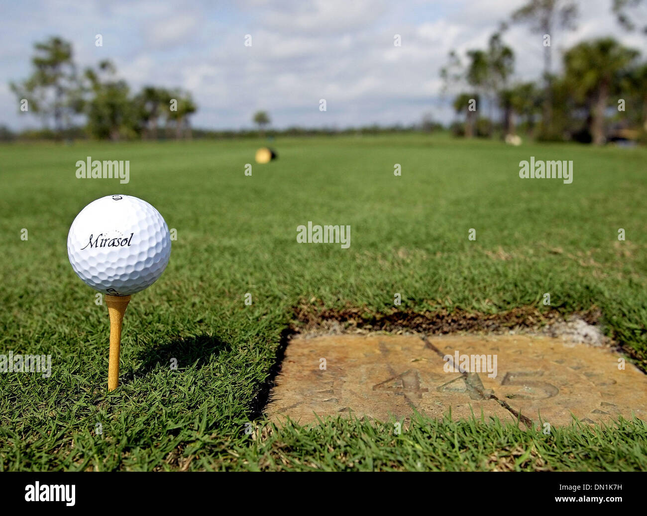 Feb 24, 2006; Palm Beach, FL, USA; Mirasol Country Club golf ball on ...