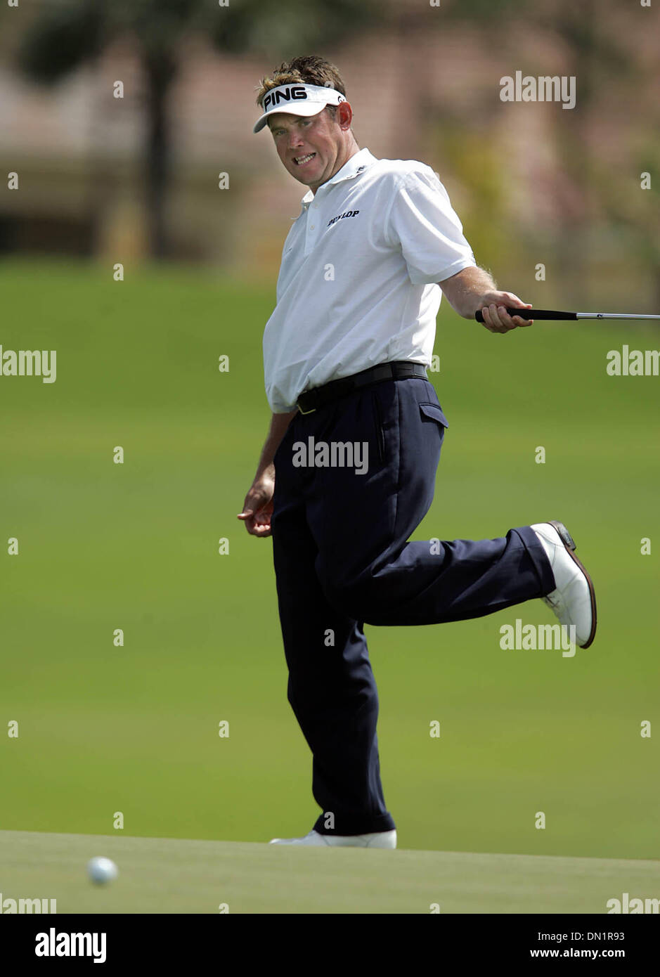 Mar 10, 2006; Palm Beach Gardens, FL, USA; Golfer Lee Westwood just ...